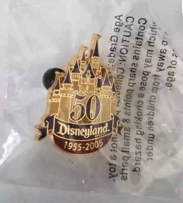Disneyland 50Th Anniversary 1955-2005 Unopened Cast Member Exclusive Pin