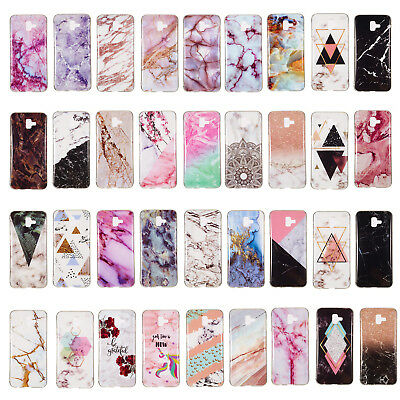 For Samsung J4 J6Plus A9/A7 J2pro 2018 Marble Silicone TPU Soft Phone Case Cover
