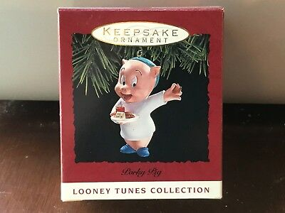 NEW Hallmark LOONEY TUNES 1993 PORKY PIG with Cookies for Santa NEW in Box NIB
