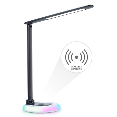 Dimmable LED Desk Lamp Office lamp Colorful Night Light Touch Control Eye-Caring
