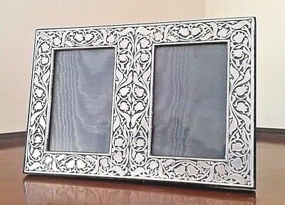 Britannia Fine Silver Double Photograph Frame By Paul Vernon Fitchie London 1991
