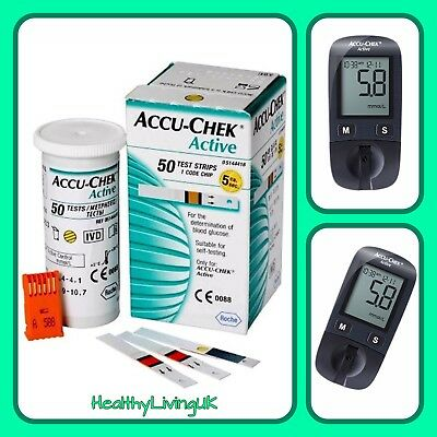 Accu Chek Active Test Strips - For Accu Chek Active Meters - 1 x 50 - RRP £34.99