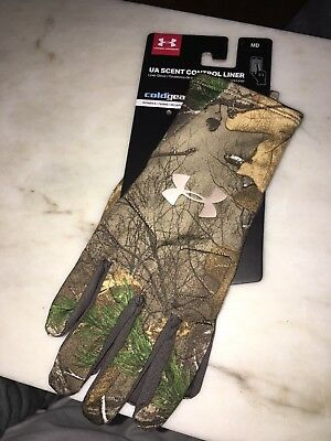 7462a8ab05c9b UNDER ARMOUR Scent Control Camo Hunting Gloves Women's MD M $40 MSRP NWT