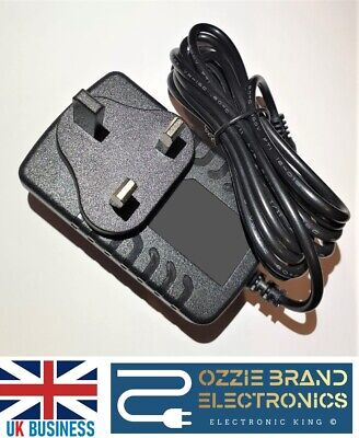 9Volt 2Amp Ac/dc Power Supply Adapter 9V 2A 2000Ma Charger Uk Plug Mains Lead