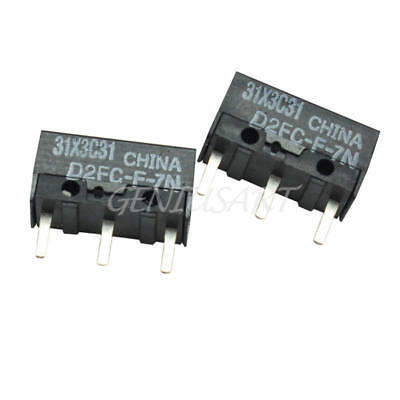 2Pcs Metal Plastic Replacement Micro Switch D2FC-F-7N for IBM Mouse Black