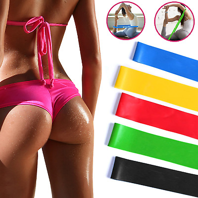 Resistance Tubes Bands Exercise Fitness Workout Train Elastic Stretch Loop Set