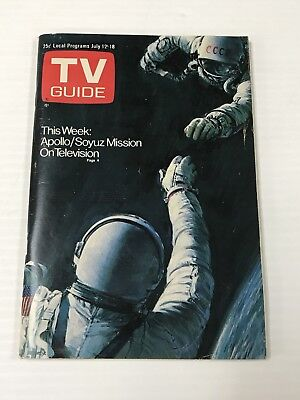 1975 TV Guide This Week: Apollo/Soyuz Mission On Television July 12-18