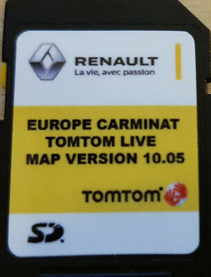 RENAULT Update SD Map Carminat LIVE - Europe SD V10.05 - Aggiornamento 2018 2019