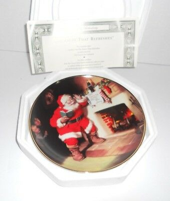 Coca-Cola Plate The Pause That Refreshes Franklin Mint 1993 COA Santa Claus