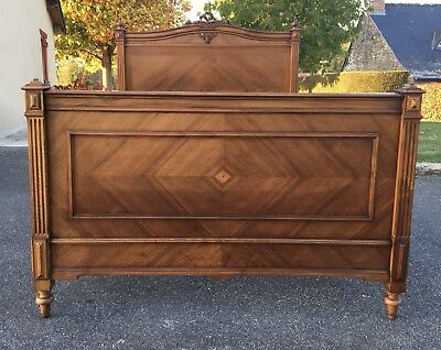 Stunning Antique French Louis XV Double Bed Frame Carved Walnut