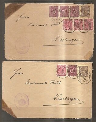 Europe - Older Stamps on Paper Covers - Germany.