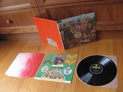 BEATLES - Sgt Peppers LP 60's STEREO ON MONO LABELS - COMPLETE ALL ORIG CONTENTS