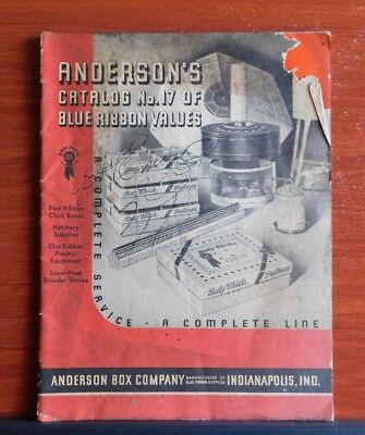 1935 Anderson's Catalog No 17 - Anderson Box Co - Chick Boxes, Hatchery Supplies