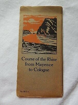Panorama Map-Course of the Rhine from Mayence to Cologne-Karl Rud Publisher
