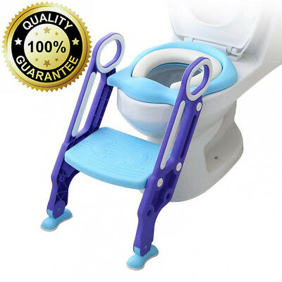 Potty Toilet Training Seat Baby Toddler Kid Trainer Chair with Step Stool...