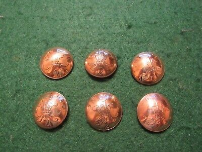 Original  British Decimal 2 New Pence  1970S Coin Shank Buttons 6 Pieces Lot
