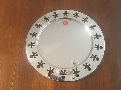 ALESSI Girotondo Boy Round Platter 40cm Stainless Steel (Almost as new)