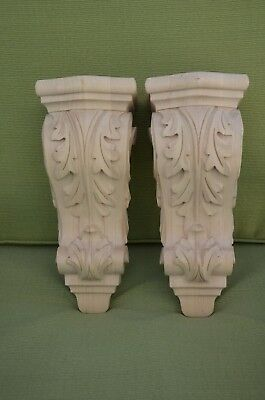 Acanthus Med Sm solid wood corbel pair NEW by Enkeboll Designs, Code #CBL-AM1