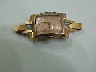 c10dcb21aab  839 Art Deco Solid 14K Pink Gold Gruen Ladies Watch Running 5 Grams  Investment