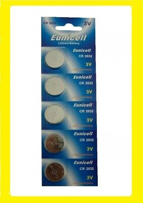 5 x Long Lasting Power Eunicell 3 V Lithium button Cell Coin Battery CR2032