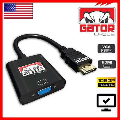 HDMI Male to VGA Female Video Converter Adapter Cable Cord HD 1080P HDTV TV PC