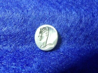 Antique 19th Century Sterling Silver Loose Intaglio Sealing Wax Stamp Seal