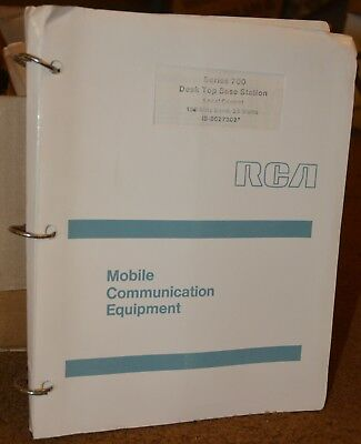 Original Manual for RCA Series 700 Desk Top Base Station from 1972