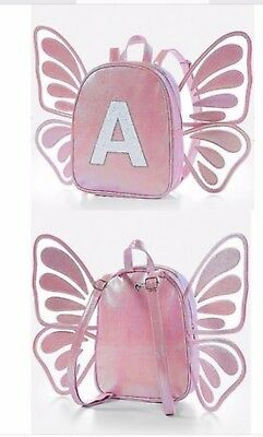Justice Girls Pink Mini Butterfly Initial B Backpack