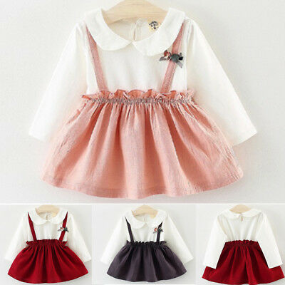 AU Toddler Kid Baby Girl Clothes Princess Party Wedding Tutu Skirt Dress Dresses