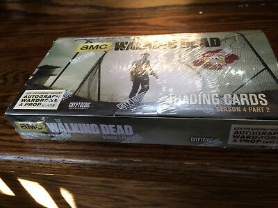 One Cryptozoic Walking Dead Season 4 Part 2 SEALED Trading Card HOBBY Box
