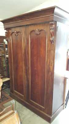 19th Century 2 Door Mahogany Wardrobe