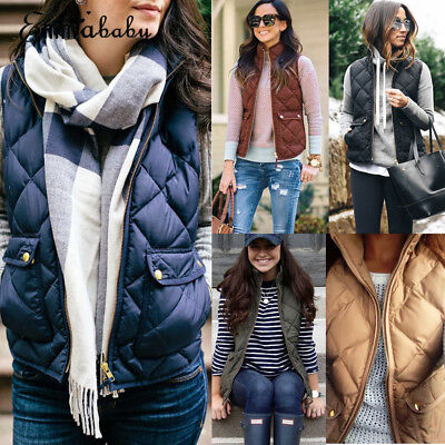 AU Winter Women Hooded Sleeveless Hoodies Thick Warm Waistcoat Vest Coat Jacket
