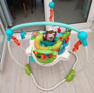 Fisher price jumperoo precious planet bouncer baby toy activity jumping
