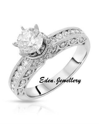 Lovely Engagement Solitaire Ring Diamonique 925 Sterling Silver Cubic Zirconia