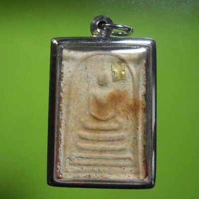 Real Rare Somdej Lp Prom Old Thai Buddha Amulet Wealth !!!