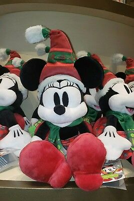 Minnie Mouse Plush Nordic Winter Christmas Doll 2018 Holidays Disney Parks