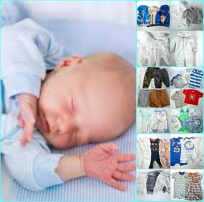New Without Tag Big Bundle Of Baby Boy`s Clothes Age 0-6 Months 32+ Items