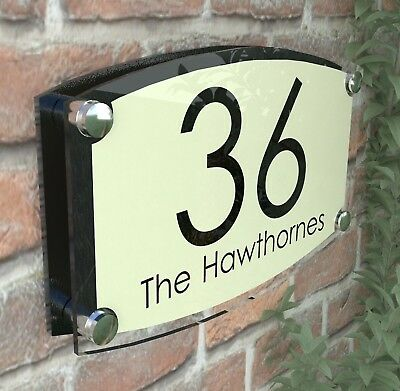 Large House Signs Plaques Door Number Personalised Wall Address ESTA4-27BVP