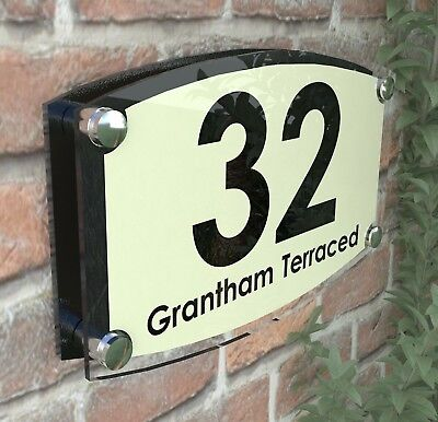 Large House Signs Plaques Door Number Personalised Wall Address ESTA4-19BVP