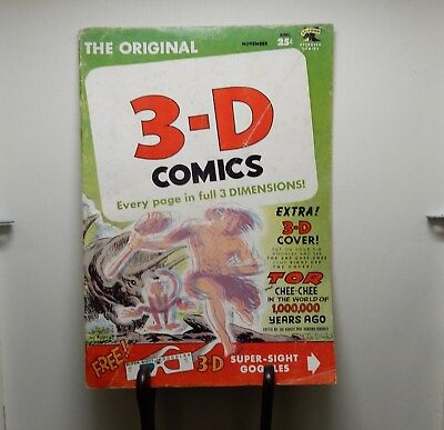 3-D Comic Book TOR and CHEE-CHEE In The World Of 1,000,000 Years Ago Vol 1 No.2