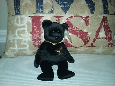 "Ty Beanie Baby 1999 "" The End "" Bear ( Mwmt )"