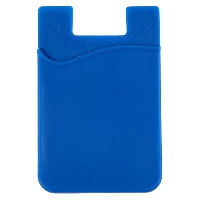 Silicone Wallet Credit Card Cash Stick Adhesive Holder Case For iPhone Cell I6J4