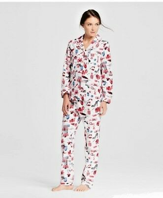 Women's 2 Piece Flannel Cotton Pajama Set Long Sleeve Top + Pant XS - XXL