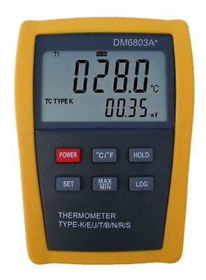 Digital T-type Thermocouple Thermometer Cryogenics Ultra Low Temperature DM6803