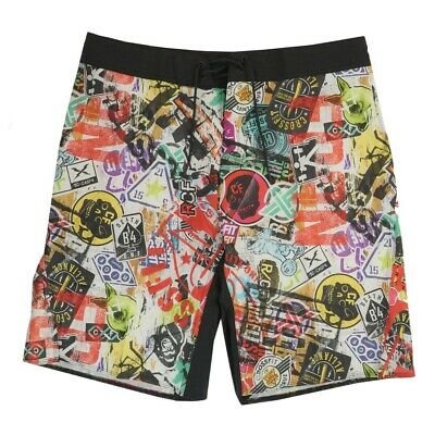 Reebok  Men's CrossFit Sticker Print Core ii Training (Multi) Shorts