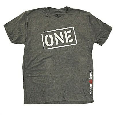"Reebok Men's CrossFit ""One"" Logo Grey Tri-Blend T-Shirt"
