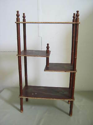 Vintage Old 4 Shelf Oriental Stand, Made in Japan