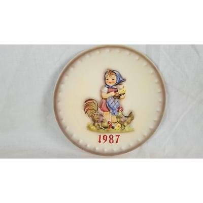 Goebel HUMMEL ANNUAL PLATE Feeding Time 1987 (17th in series of 25)