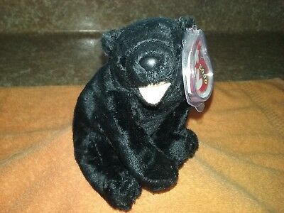 "Ty Beanie Baby 2000 "" Cinders "" The Black  Bear ( Mint With Mint Tags )"