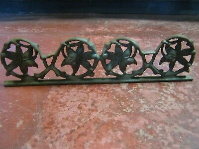 Architectural Salvage Cast Iron Flowers & Circles Standing Plaque